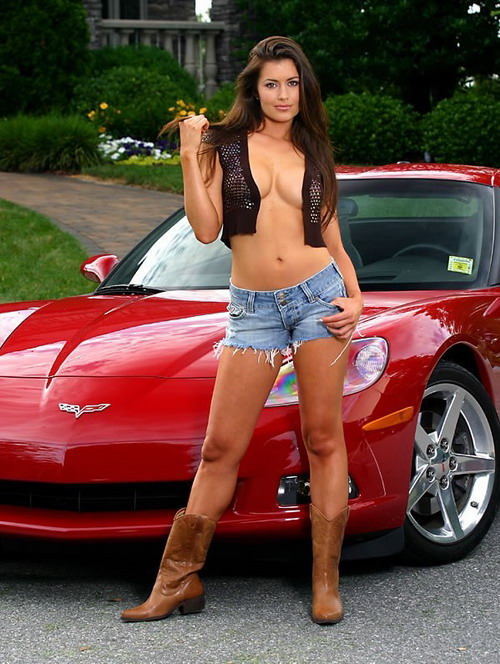 Sexy girls with cars